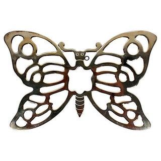 Silver Plate Butterfly Trivet