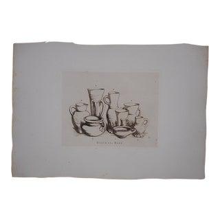 Antique Ltd. Ed. English Pottery Etching
