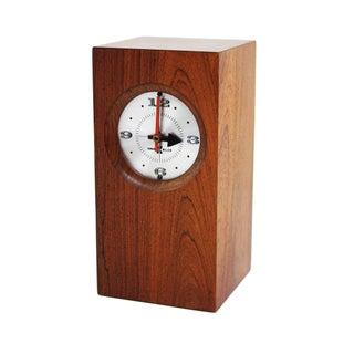 1960s Vintage Mid Century Modern Arthur Umanoff Style Rosewood Clock