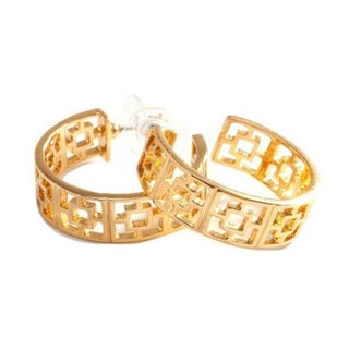 Trina Turk Gold Plated Hoop Earrings