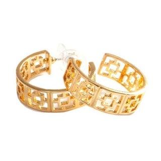 Trina Turk Gold Plated Hoop Earrings