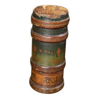Very Large Green and Brown, Leather and Cork Artillery Bucket, English 1880