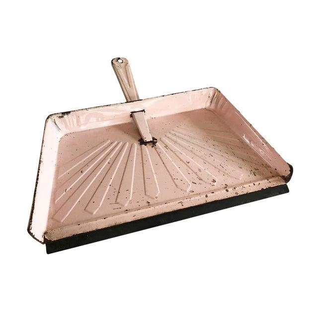 Vintage Pink Metal Dustpan - Image 1 of 4