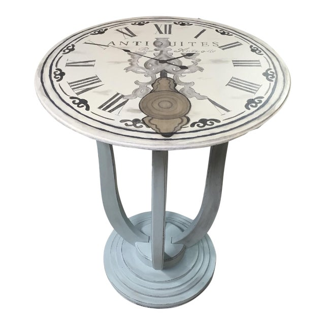 French Clock Accent Table Chairish