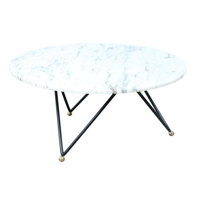 Round Marble Top Coffee Table Chairish