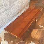 Image of Mid-Century Danish Modern Walnut Bench