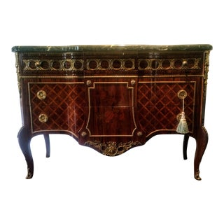 Louis XV Style Marble Top Bronze Mounted Commode Chest