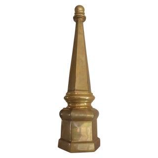 Brass Obelisk with Hexagon Base