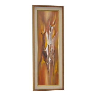 Framed Vintage Abstract Painting by Monte