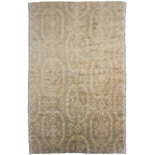 Aara Rugs Hand Knotted Ikat Rug- 6′ × 9′