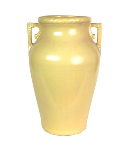 Mustard Yellow Art Pottery Floor Vase