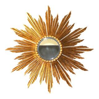 Vintage Italian Gilded Sunburst Mirror