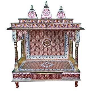 Meenakari Multicolor Large Size Home Puja Mandir Hindu Temple Mandapam Altar