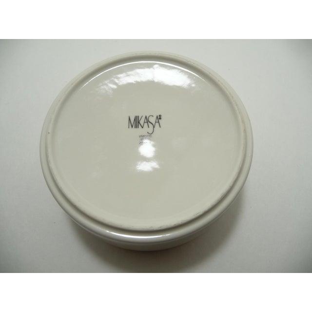 Mikasa Floral Porcelain Round Vanity Box Aqua - Image 5 of 6