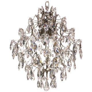 Nickel Almond & Ball 36cm Chandelier