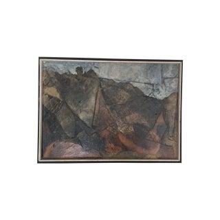 Mid Century Mixed Media Abstract Painting