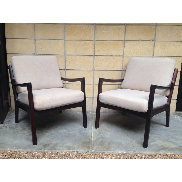 Ole Wanscher Mid-Century Rosewood Chairs - A Pair - Image 2 of 9
