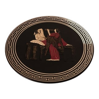 Vintage Greek Art Pottery Plate