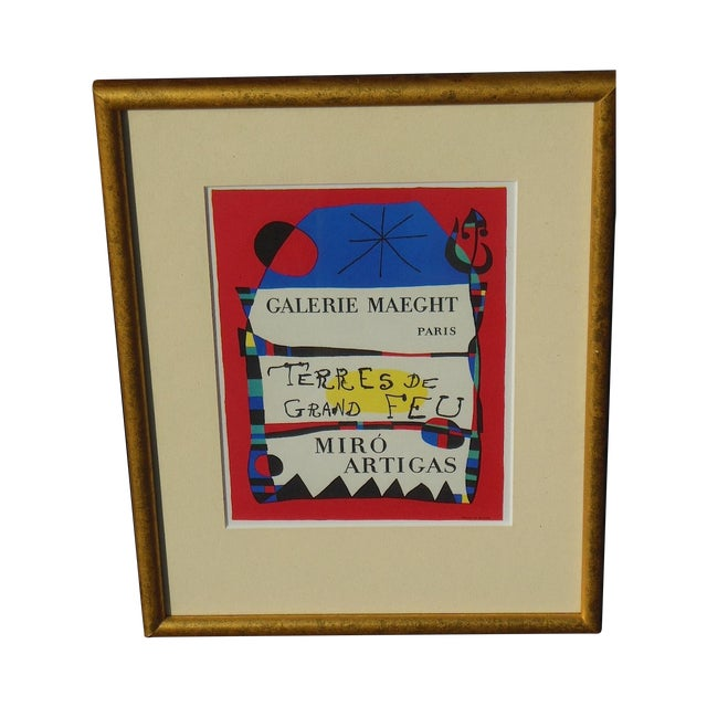 Image of Joan Miro Vintage Framed Lithograph