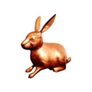 Large Brass Rabbit Figurine
