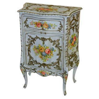 Italian Hand Painted Side Cabinet
