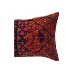 Image of Indian Antique Embroidered Silk Pillow