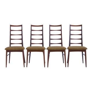 Set of Koefoeds Hornslet Teak Ladder Back Dining Chairs