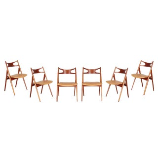 Hans Wegner Sawbuck CH29 Dining Chairs - Set of 6