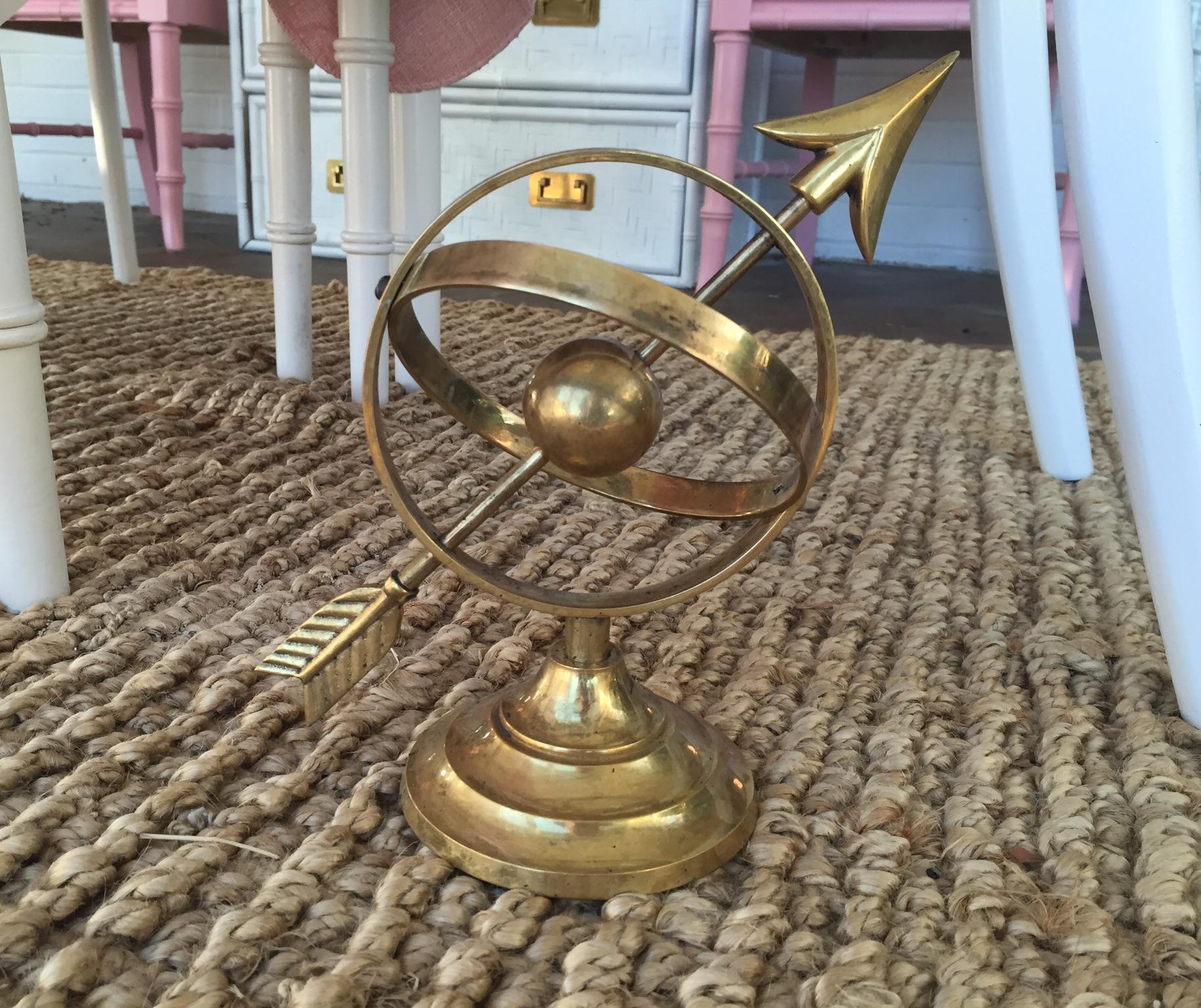 Vintage Decorative Brass Sundial