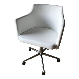 Modern White Swivel Office Chair
