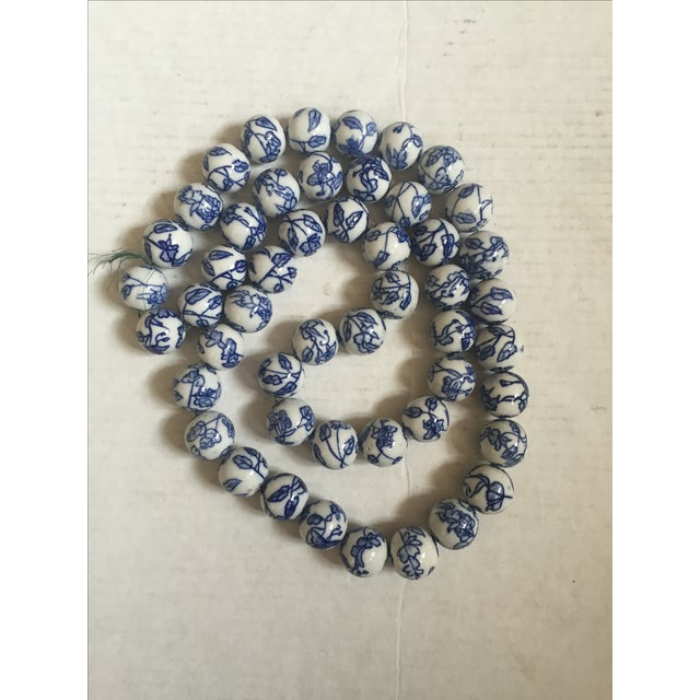 Blue & White Chinese Floral Porcelain Beads - Image 2 of 6