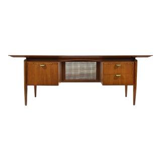 Finn Juhl Double Pedestal Desk by Baker