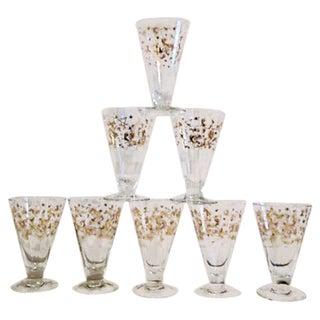 Midcentury Atomic Cocktail Glasses - Set of 8