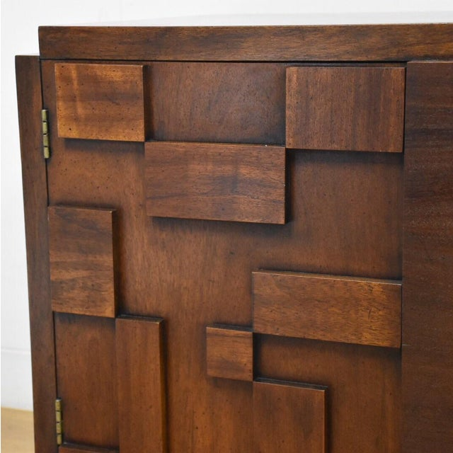 Lane Brutalist Console Credenza - Image 4 of 10