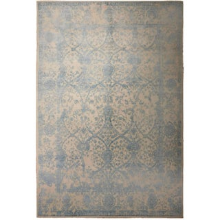 "Transitional Hand-Knotted Luxury Rug - 8'1"" X 9'8"""