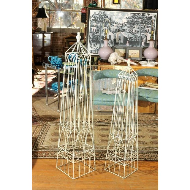 White Garden Obelisks - A Pair - Image 2 of 8