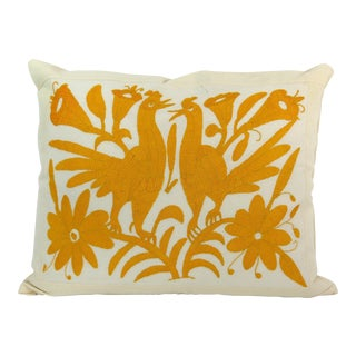 Handmade Long Stitch Embroidered Pillow