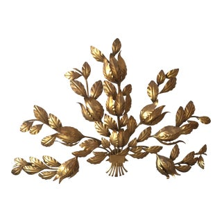 Gold Leaves Light Wall Fixture
