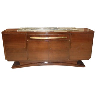French Art Deco Macassar Ebony Sideboard, Circa 1940s