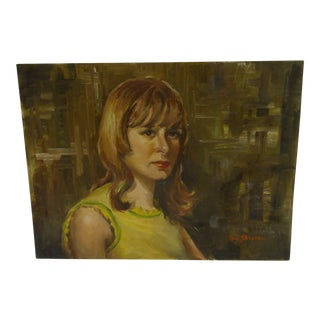 "Original Painting - ""Portrait of Lanna"" - Tom Sturges, 1967"