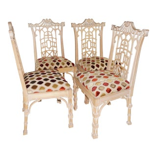 Mid-Century Pagoda Dining Chairs - Set of 4