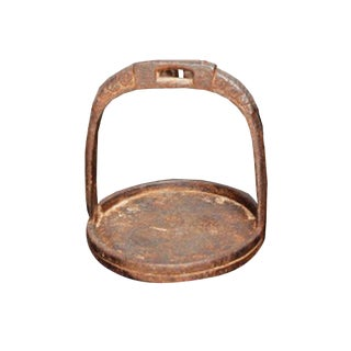 Vintage Iron Stirrup Candle Holder