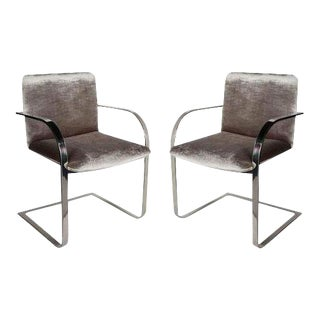 Pair of Mid-Century Modern Side Chairs or Office Chairs by Brueton