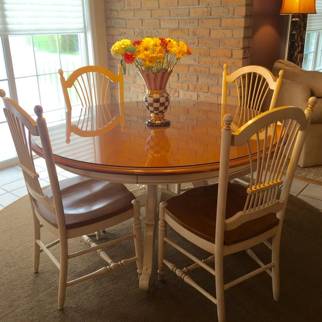 Ethan Allen Dining Room Sets: Ethan Allen Country French Dining Table And Chairs