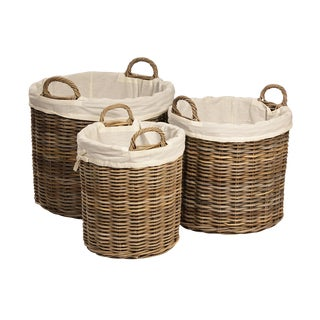 Kubu Woven Round Baskets - Set of 3