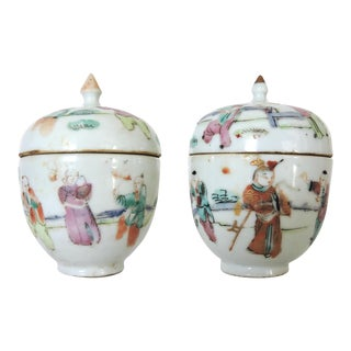 Little Chinese Ginger Jars - a Pair