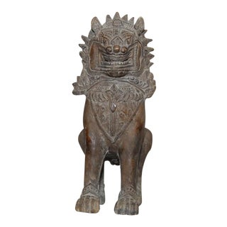 "Thai Ceramic Foo Dog ""Singha"" Temple Guardian"