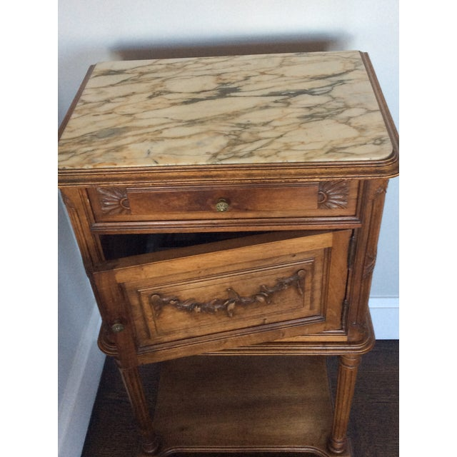 Antique Louis XV Style Nightstand - Image 4 of 5