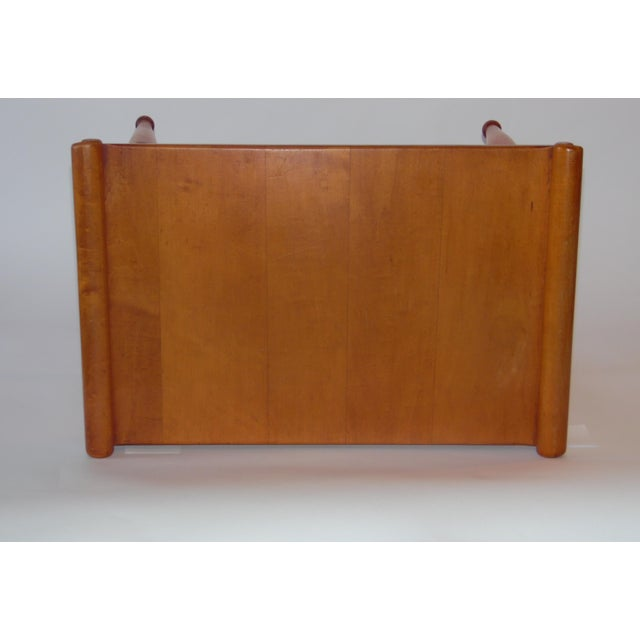 Image of Mid- Century Wood Light Brown Color Bench