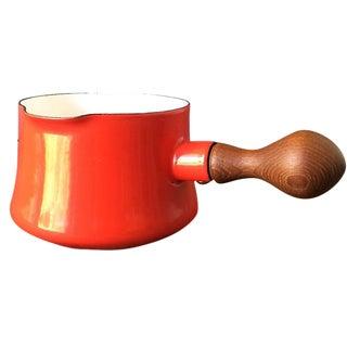Red Dansk Kobenstyle Enamel Pot